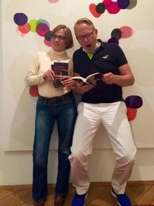 Dr. Frank Meckbach und Autorin Dr. Simone Klein im Max-Beckmann-Haus in Frankfurt.  Foto: Jens Lindner