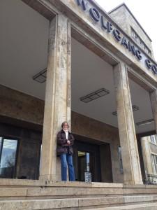 Auf Hubers Spuren an der Goethe-Universität. Foto: Jessica Kuch