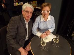 Autorenkollegen an der Buchmesse Olten. Walter Aerni und Simone Klein Foto: Urs Heinz Aerni